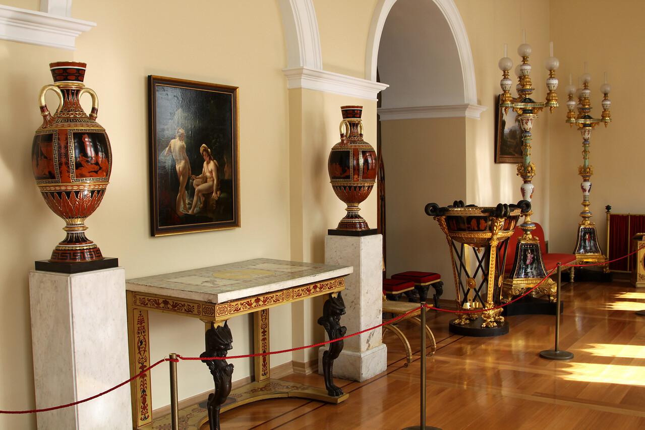 Hermitage Interior - Vases in the White Hall.