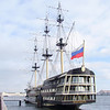 Beautiful Russian Sailing Ship on Neva River