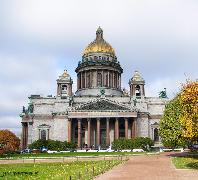 St. Isaac's Cathedra.  Dome made from Gold from sale of Alaska to the U.S.
