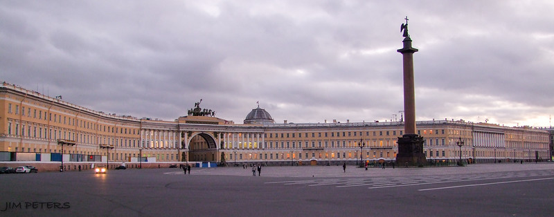Palace Square near The Hermitage in St. Petersburg