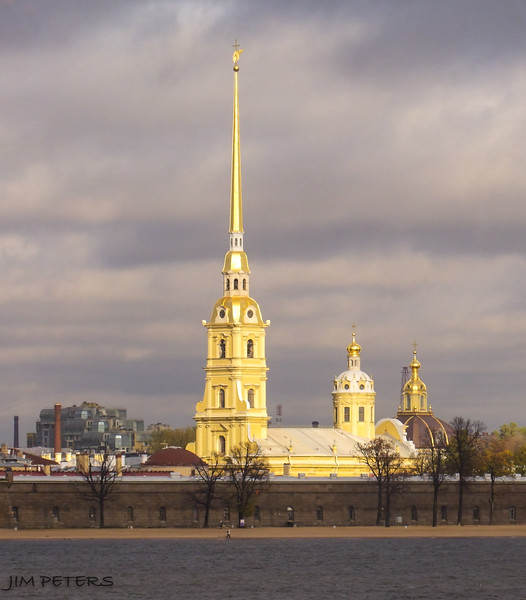 Peter and Paul Cathedral and Fortress - Built 1702, beginning of St. Petersburg by Peter the Great