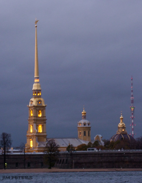 Peter and Paul Cathedral at Night