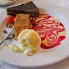Yummy dessert near Cathedral of Kazan.