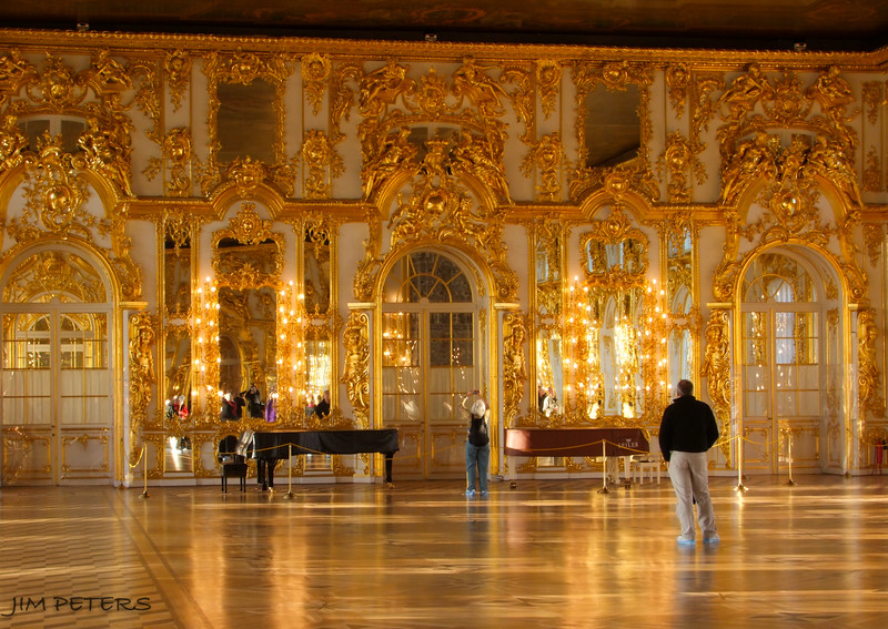 Ballroom at Summer Palace of Catherine the Great