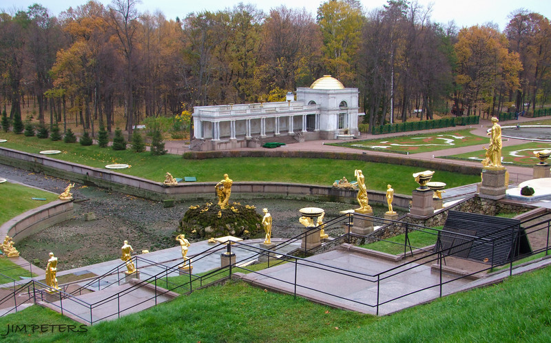 Grand Fountain at Peterhof.  Closed for Winter Season.