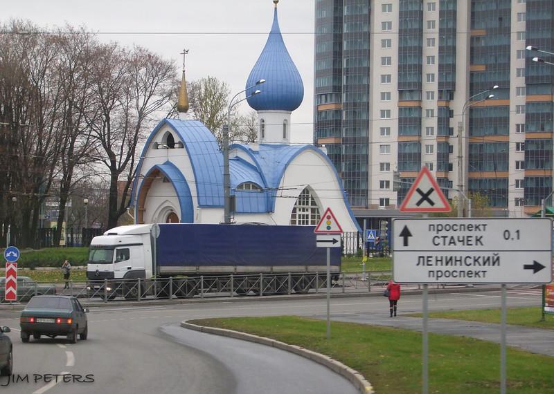 Street scene near St. Petersburg