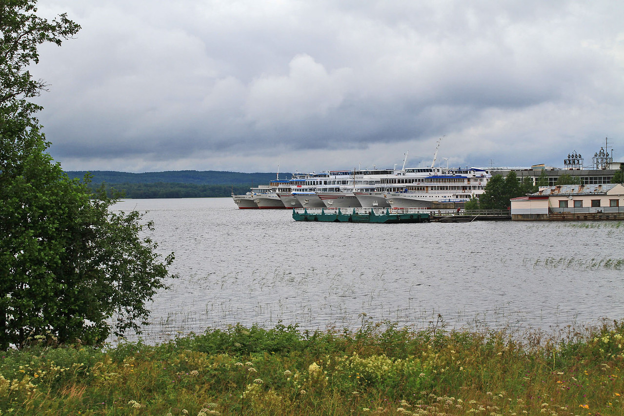 Cruise Ships Docked at Kizhi Island
