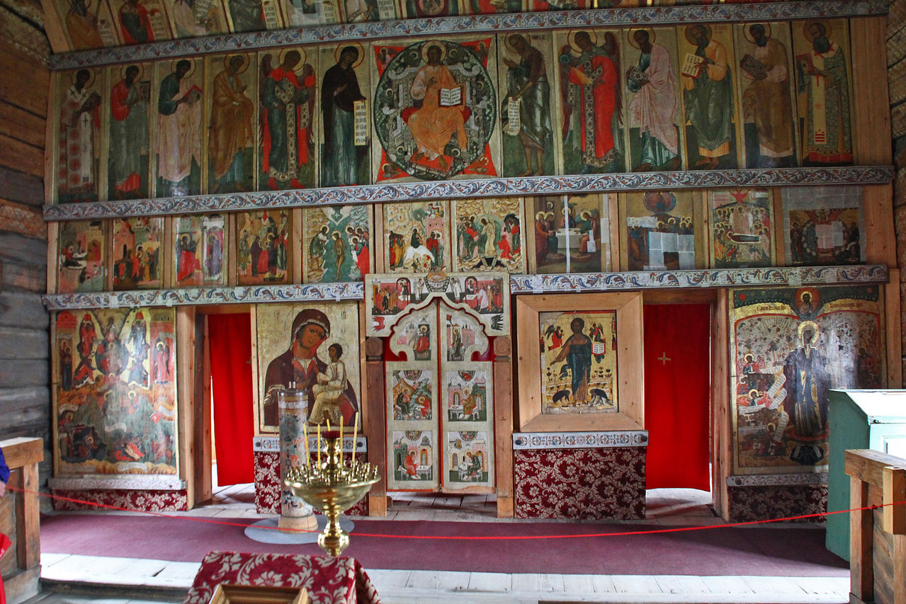 Inside Small Wooden Church