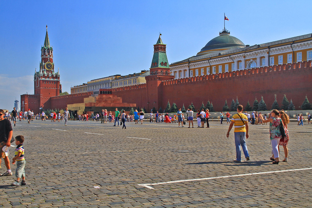 Saviour's  Tower, Lenin's Mausoleum, & Senate Tower