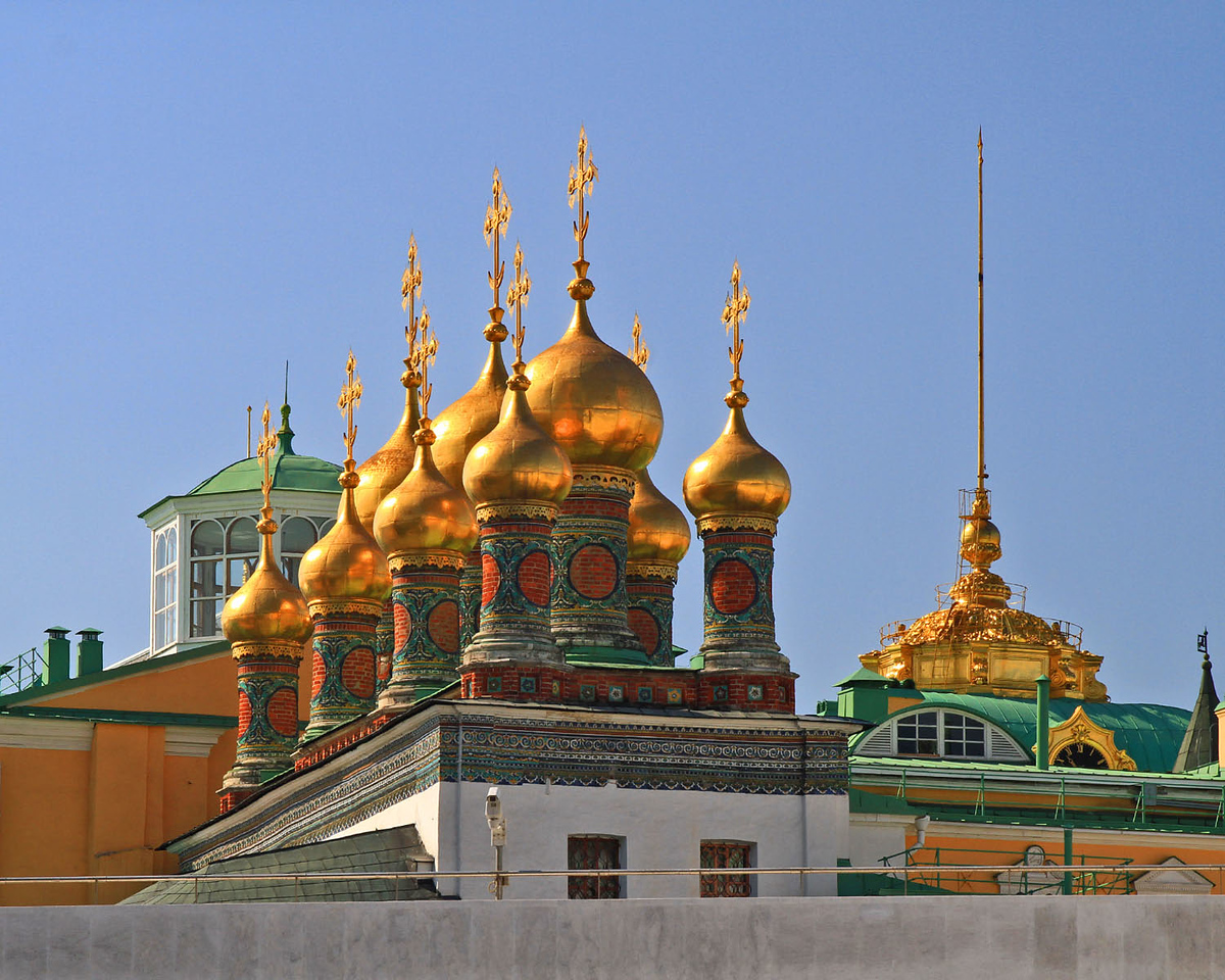 Domes of Upper Saviour Catherdral - Kremlin