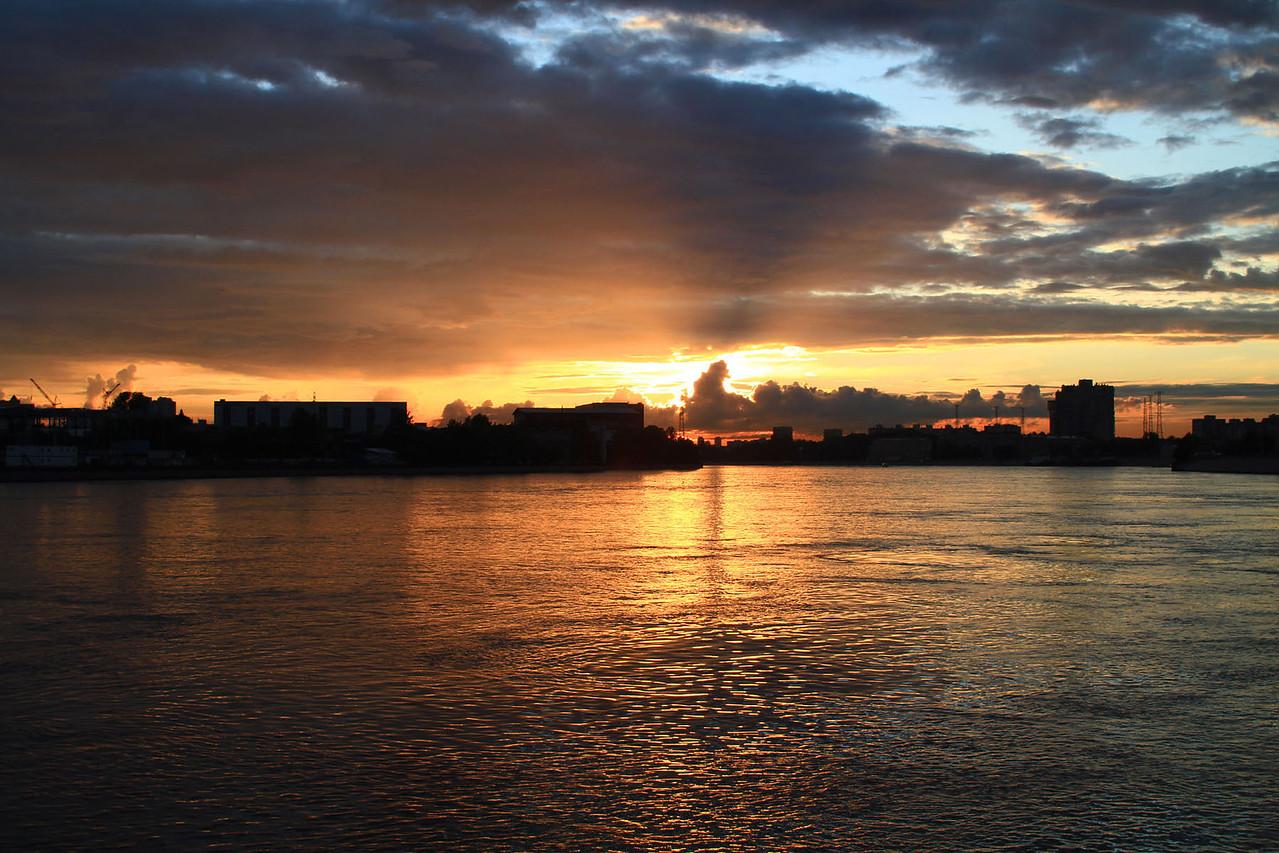 Sunset from Viking Ingvar at 10:30 PM