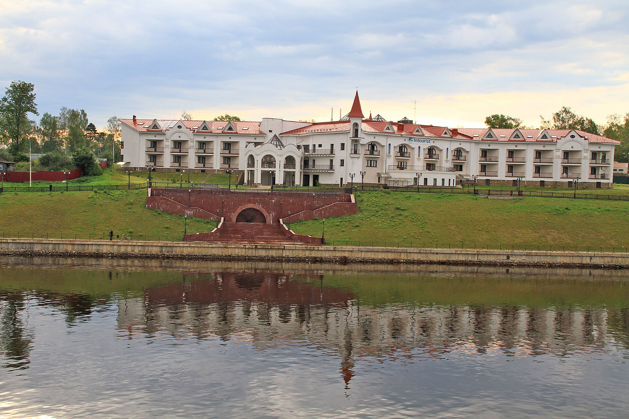 Entering City of Uglich in Morning