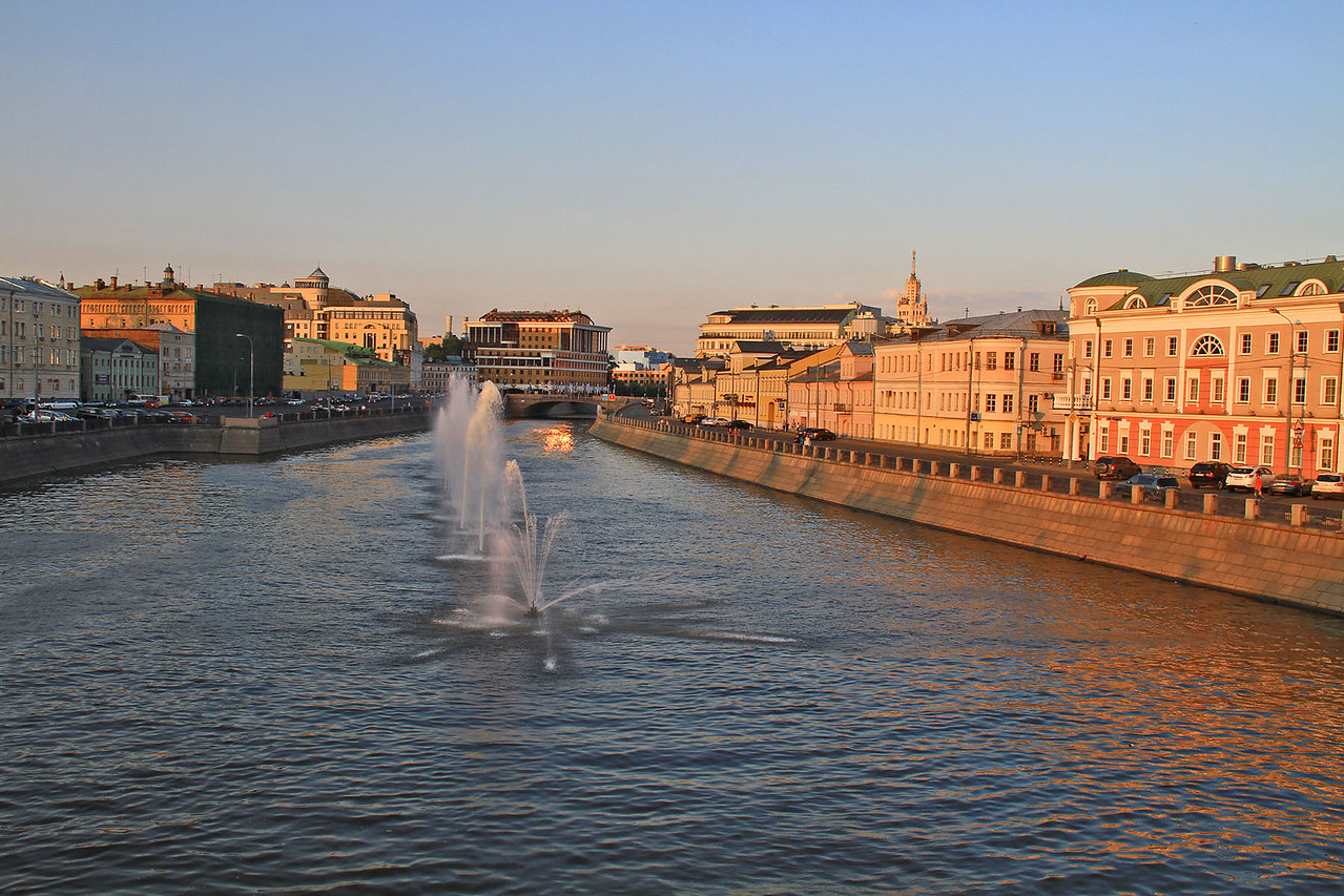 Fountains in Moskva River