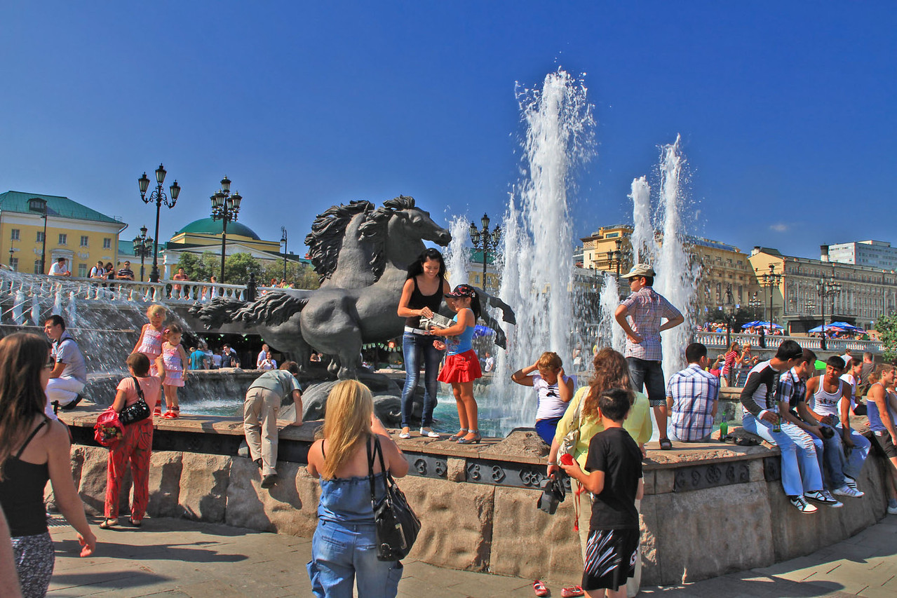 Fountain at Entrance to Red Square