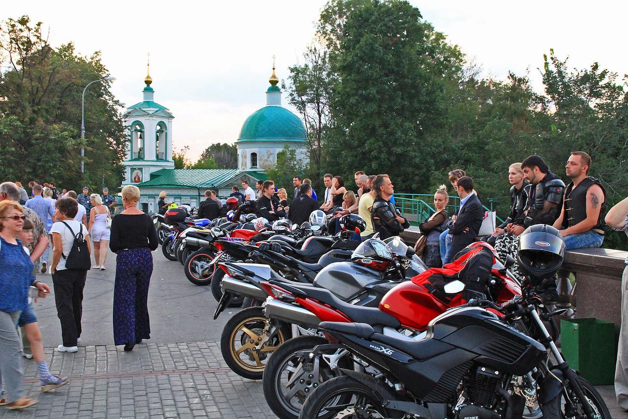Bikers Hangout Overlooking City