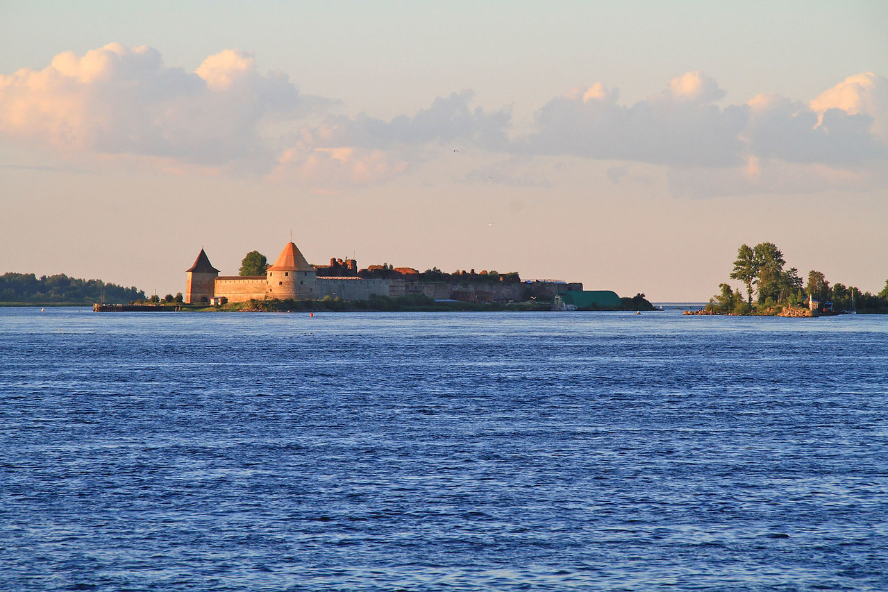 Passing Fortress and Entering Lake Ladoga