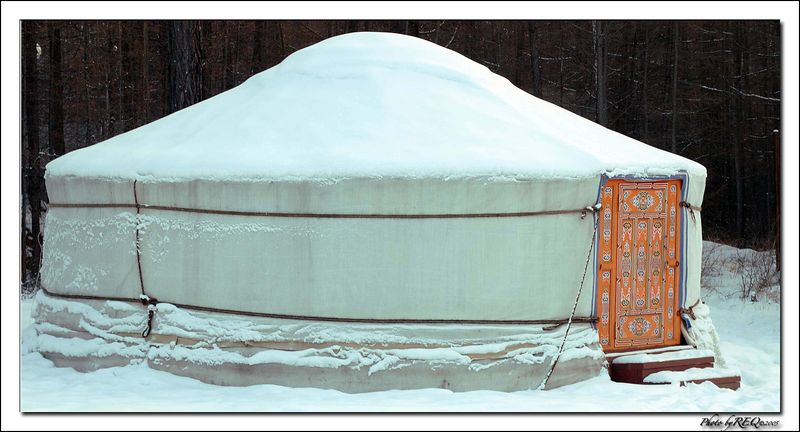 This is a yurt, or ger, as they are called in Buryat, at a tourist resort at Enxaluk.
