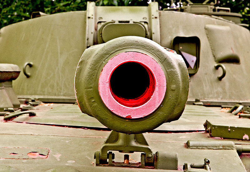 Canon Barrel of a Russian Tank.
