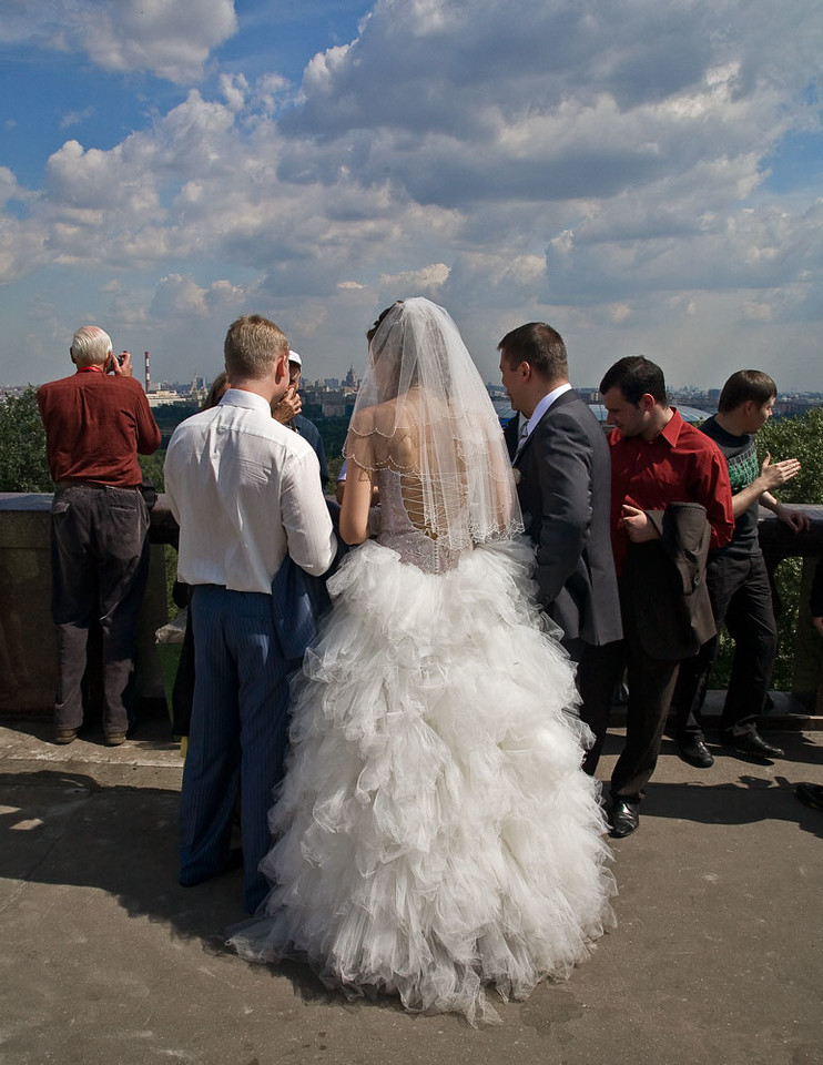 White Peacock wedding dress.