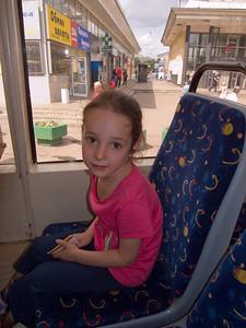 """Rebecca in the streetcar (""""tramway"""")"""