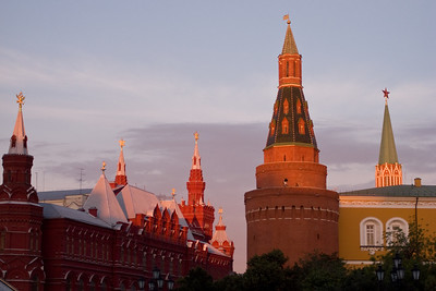 The Kremlin at sunset