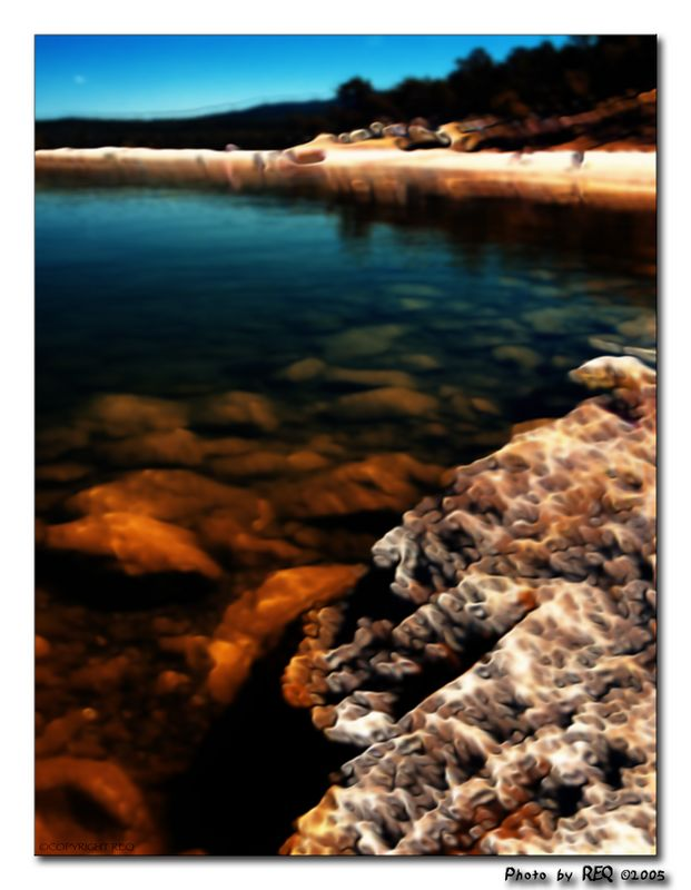 "This filter is called ""flux"", from the Nik Efex plug-ins. I like the way it brings out the underwater rocks."
