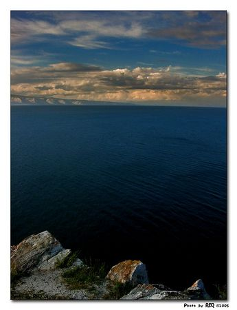 Lake Baikal from the top of Shaman's Rock, Olkhon Island.