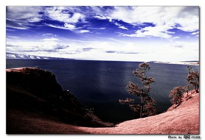 Lake Baikal through an infrared filter.