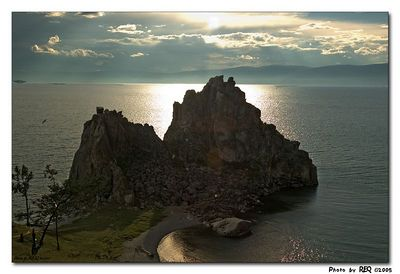 Shaman's Rock, Olkhon Island. This photo has not been photoshopped in any way. Please let me know what you see....
