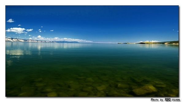 The crystal waters of Lake Baikal.