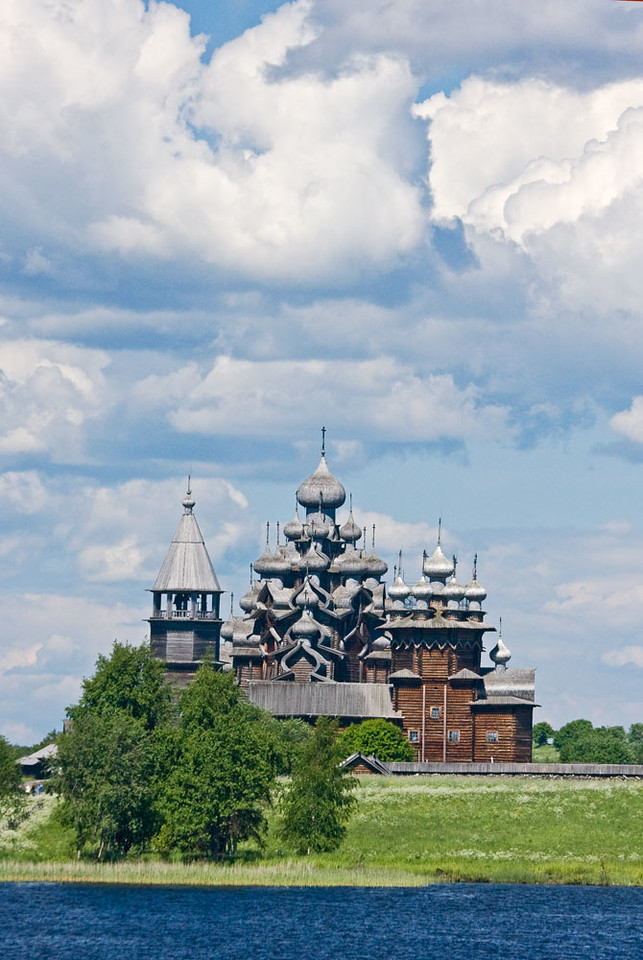 Kizhi wooden church.