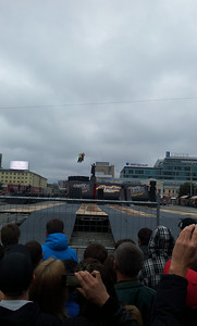 Adrenaline Rush event on the 1905 Square. You can see a big statue of Lening in the background.