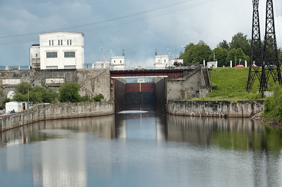 Svir River locks, near Podproshje, Russia.