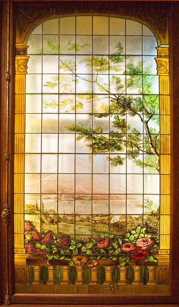 Glass window at Yusupov Palace.