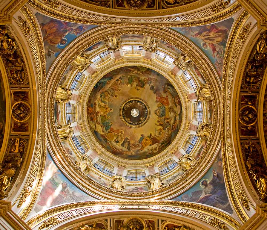 Interior details of St. Issac's Cathedral Cupola.