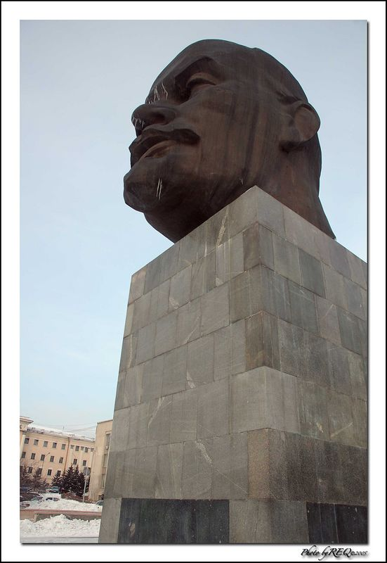 Everyone remembers dramatic pictures of Soviet statues in Moscow being destroyed after the fall of the Soviet Union, but in most smaller cities and towns, Lenin is still a familiar part of the landscape. In Ulan-Ude he is both an important historical reminder and just too heavy to move.