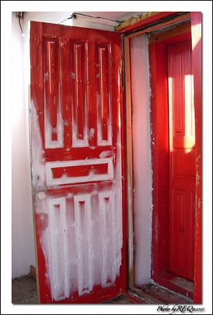 A frost covered door at the Tibetan Buddhist Datsan at Ivolginsky.