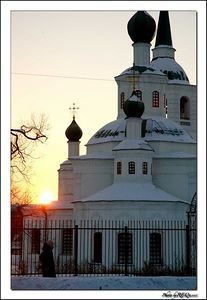 The Sviato-Troitsky (Holy Trinity) Russian Orthodox church near Gorky Park, Ulan-Ude.