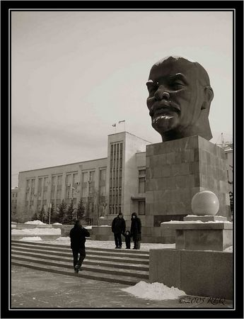 The largest head of Lenin in the world graces UIan-Ude's central square.