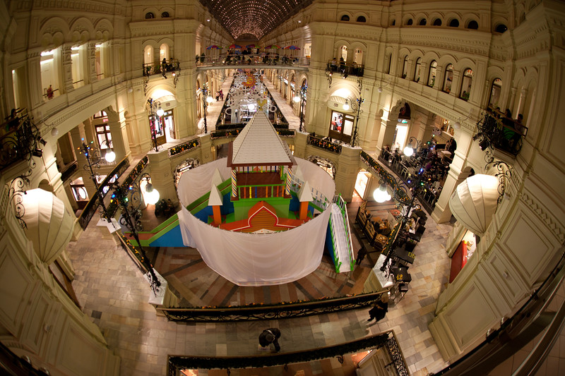 Inside the GUM shopping center. Moscow.