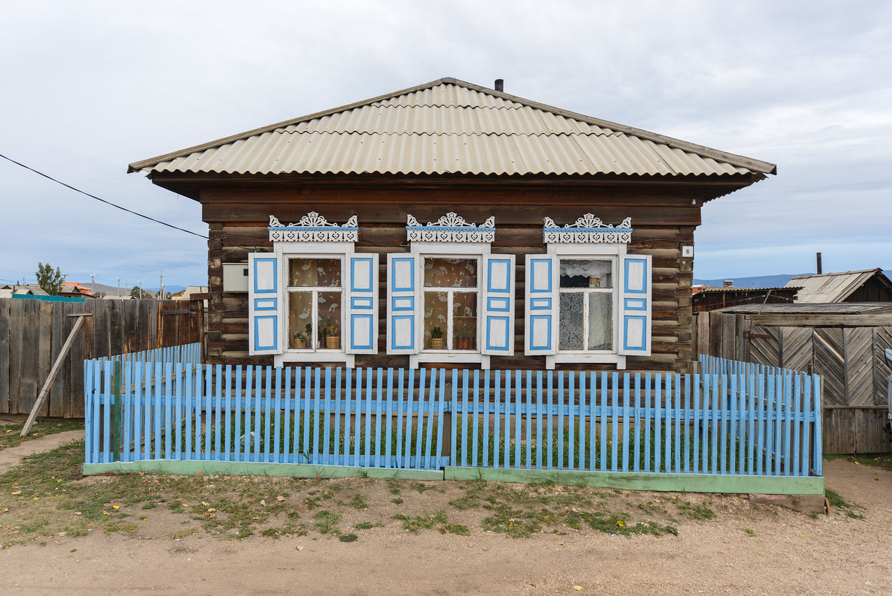 Traditional Russian Wooden House