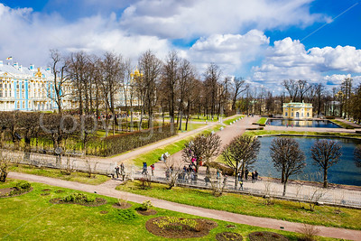Grounds of Catherine Palace in Pushkin-St Petersburg