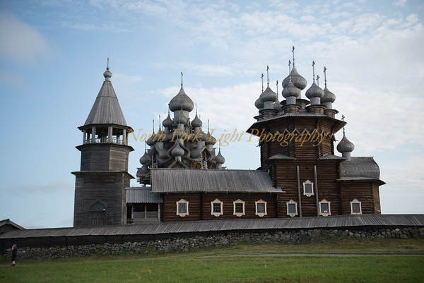 Wooden domes of Church of the Transfiguration