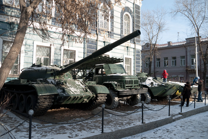2nd World War Military Equipment in Irkutsk, Eastern Siberia.