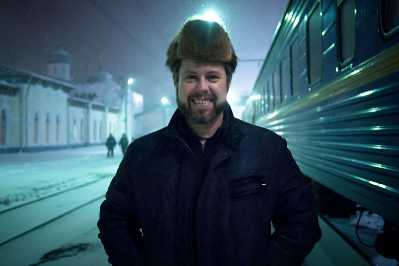 My last night on the trans-siberian railway before arriving in Moscow.