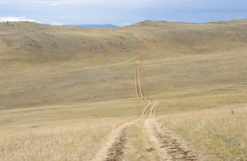 Island tracks. Olkhon Island, Lake Baikal, Siberia - Russia