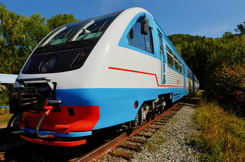 The Circum-Baikal Railway Train