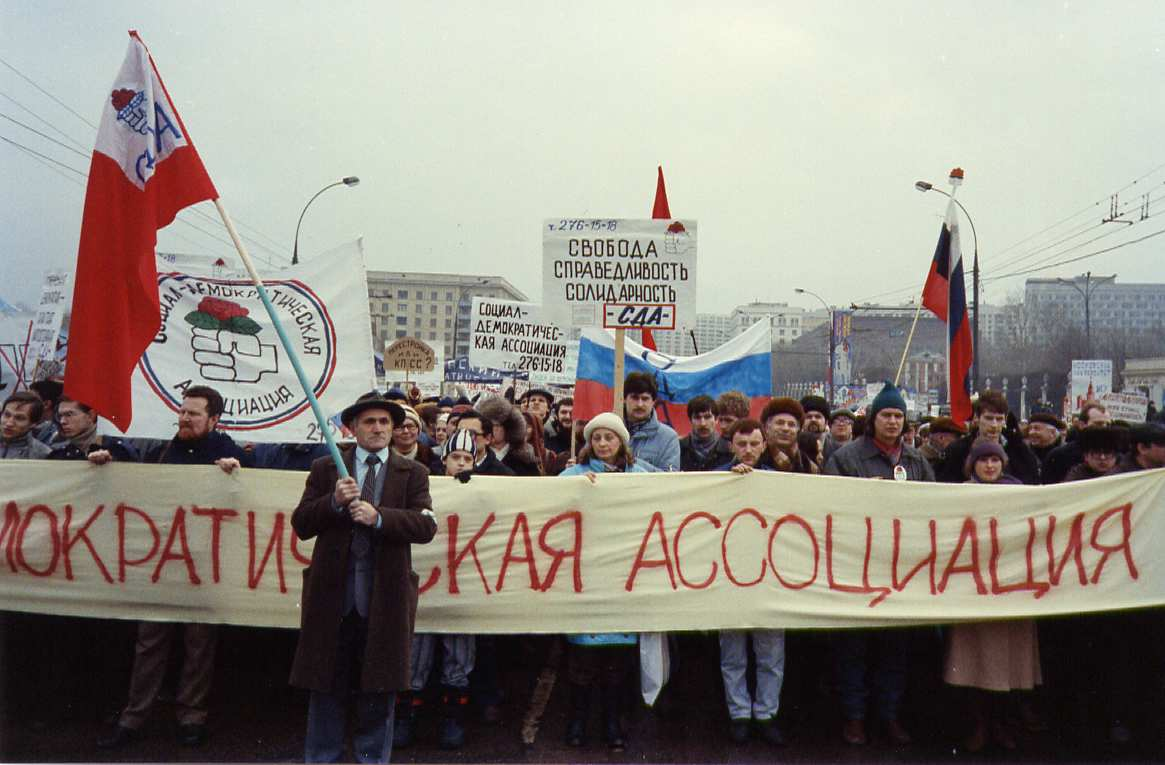 Protest in Moscow, February 1990