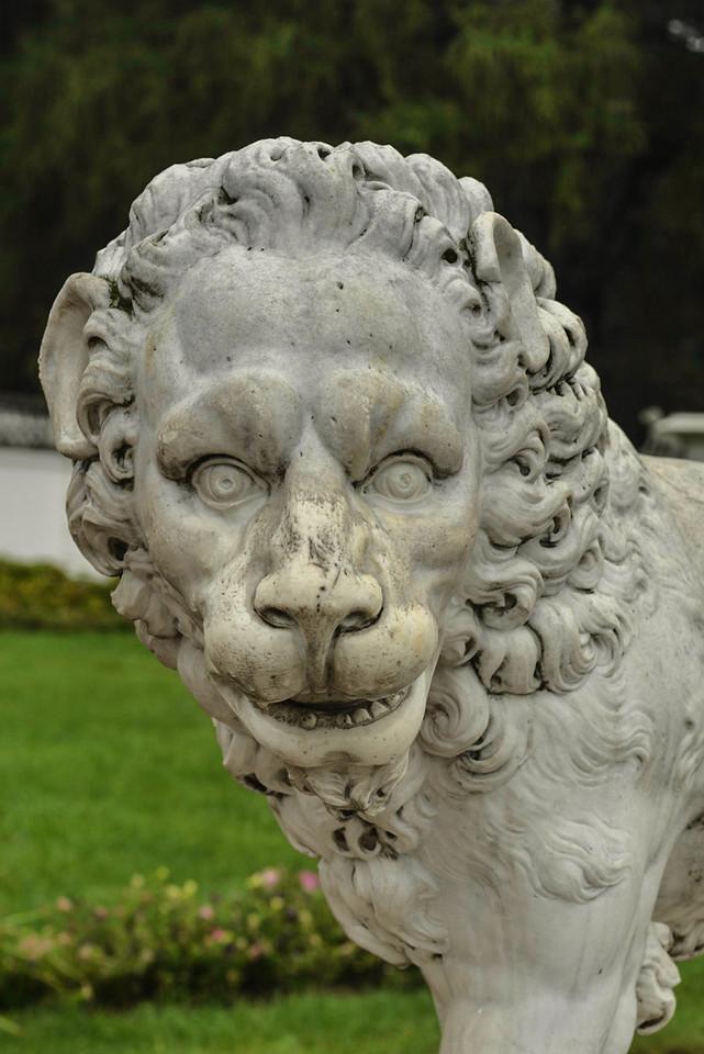 Marble Lion Statue of Arkhangelskoye Palace