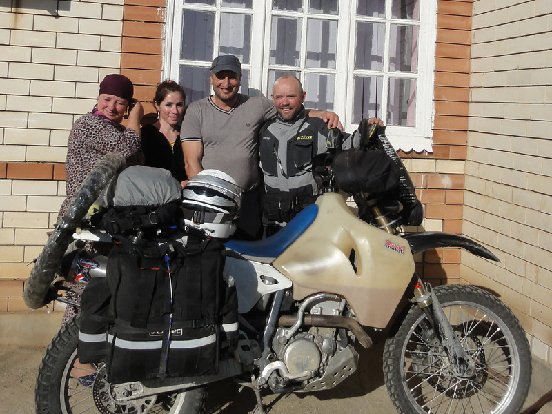 Saying goodbye to the family: Truckstop, Dagestan, southern Russia
